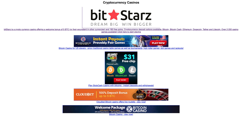 Nimetön bitcoin-kasino, ei talletusbonusta.